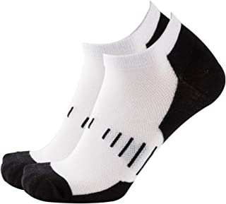 NEVSNEV 50% Merino Wool Low Cut Sock Athletic Running Men Women Socks Cotton Moisture Wicking for Cycling Hiking