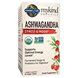 Garden of Life mykind Organics Ashwagandha Stress & Mood 60 Tablets - 600mg Ashwagandha plus Ginger & Probiotics, Supports Healthy Stress Response, Energy Levels - Organic Non-GMO Vegan & Gluten Free