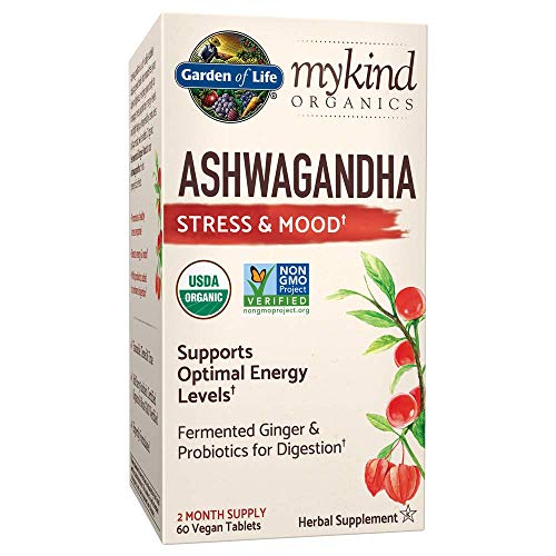 Garden of Life - Mykind Organics Ashwagandha Stress & Mood Support - 60 Tabletas de Vegan