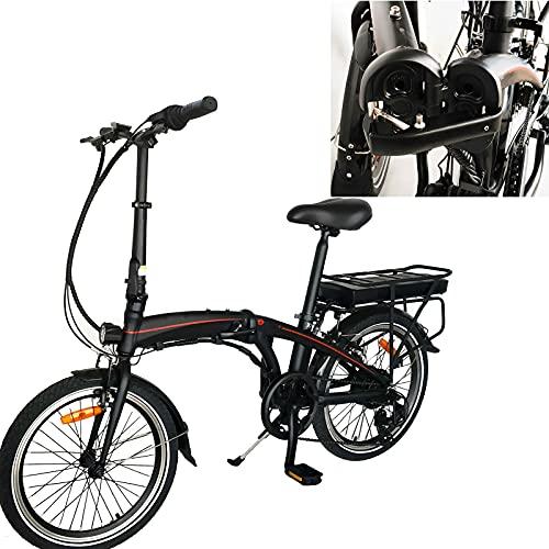 Bicicleta de montaa elctrica Electric Bike Bici eléctrica de la Ciudad del neumático de 20 Pulgadas Bicicleta de montaña eléctrica con Motor 36V250W Ideal para Viajes Cortos