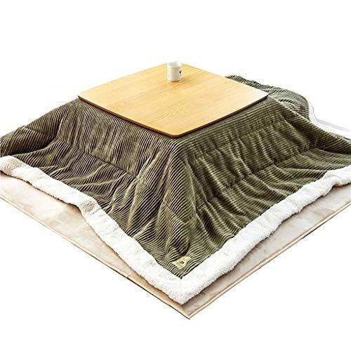 Kotatsu Japonesa Japonesa Calefacción Pong y Sala de Tatami japonés bajo Tabla Mesa de Diseño nórdico Tabla (Color : Light Grey, Size : 75 * 75cm)