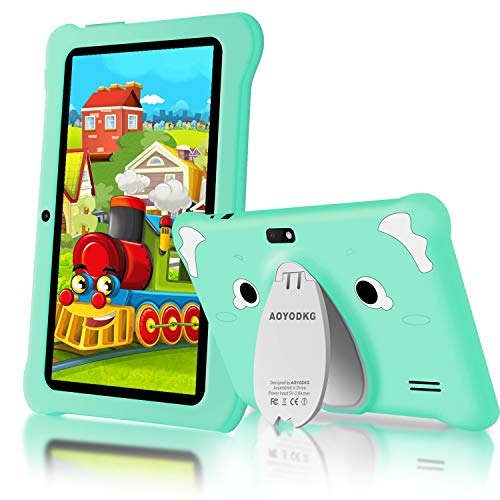 Tablet para Niños Android 10.0 (Certificación Google GMS) 3GB RAM+32GB ROM/128GB 7.1 Pulgadas HD 5.0MP Cámara Quad Core Tablet Infantil de Kid-Proof Funda Tablet Niños Educativo (Verde)