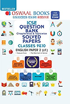 Oswaal ICSE Question Bank Chapterwise & Topicwise Solved Papers, Class-10, English Paper - 2 (Literature) (For 2021 Exam) by [Oswaal Editorial Board]