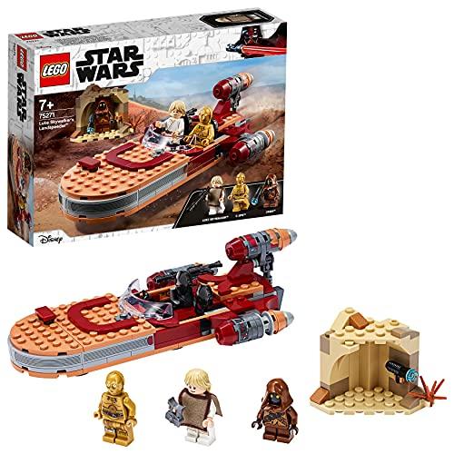 LEGO75271StarWarsSpeederTerrestredeLukeSkywalker,SetdeConstrucciónparaNiños+7añoscon3MiniFiguras