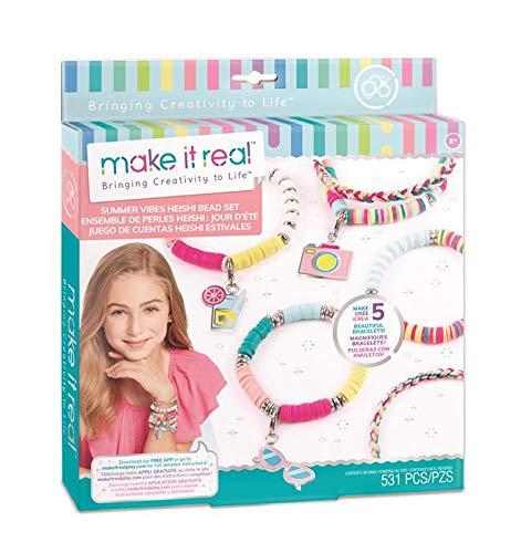 Make It Real- Juegos de Manualidades de joyería para niños, Multicolor (1317)