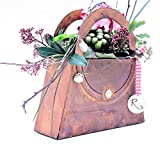 Rostikal | Deko Tasche zum Bepflanzen und Dekorieren | Pflanzgefäß in Edelrost Rost | (41 x 41 cm)