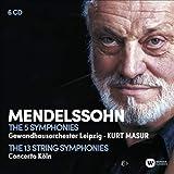 交響曲全集、弦楽のための交響曲全集 クルト・マズア & ゲヴァントハウス管弦楽団、コンチェルト・ケルン(6CD)