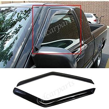 VioGi Fit 94-04 Chevy S10 95-05 Blazer 2-Door 94-04 GMC Sonoma 95-01 S15 Jimmy 2-Door 96-00 Isuzu Hombre 2pcs Front Smoke Sun/Rain Guard Vent Shade Window Visors