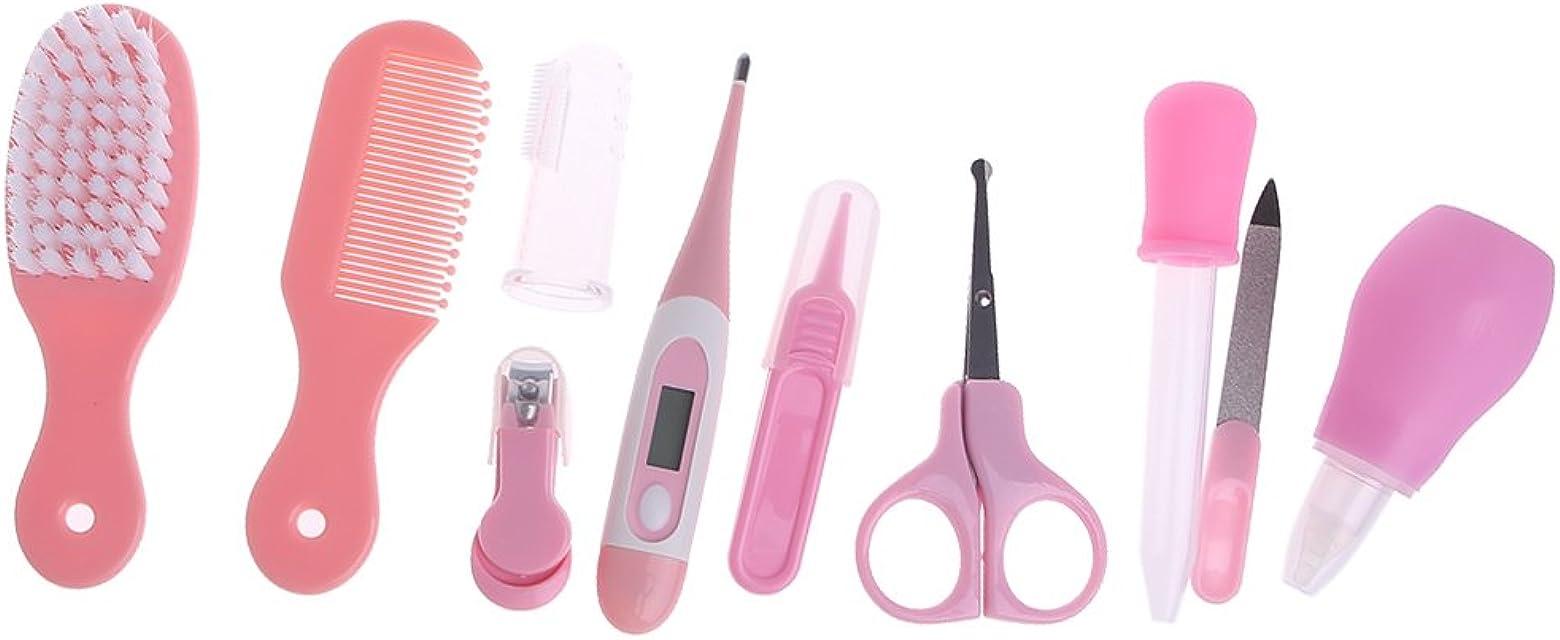 Zhangyo 10 unids/set recién nacido bebé niños uñas pelo cuidado de la salud termómetro aseo cepillo kit