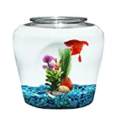 Koller Products 2 Gallon Fish Bowl - Impact-Resistant Plastic