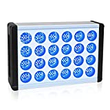Aquarium Led Light Relassy Dimmable Reef Light for Coral Fish Tank Light LPS SPS Saltwater Marine Light Full Spectrum Aquarium Plant Light with Blue&White Channels, Daisy Chain Function