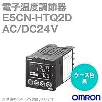 オムロン(OMRON) E5CN-HTQ2D 電子温度調節器 プログラムタイプ 端子台タイプ AC/DC24V ブラック (電圧出力(SSR駆動用)) NN