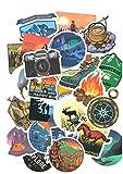 Top adesivi ! Lotto di 50 Adesivi di Campeggio - Stickers Fumetto Vinili - Non Volgari di Alta Qualità - Camping, Beach, Natura, Montagna - Computer, Laptop, Scrapbooking, DIY
