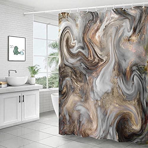 Cortina de la Ducha,Mármol Impermeable Moho Cortina Cable Partition Bath Bath Till Cortina-4_150x180cm