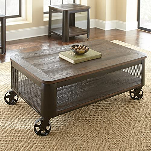 Greyson Living Braden 52-inch Mocha Finish Wood Lift-Top Coffee Table on Casters by