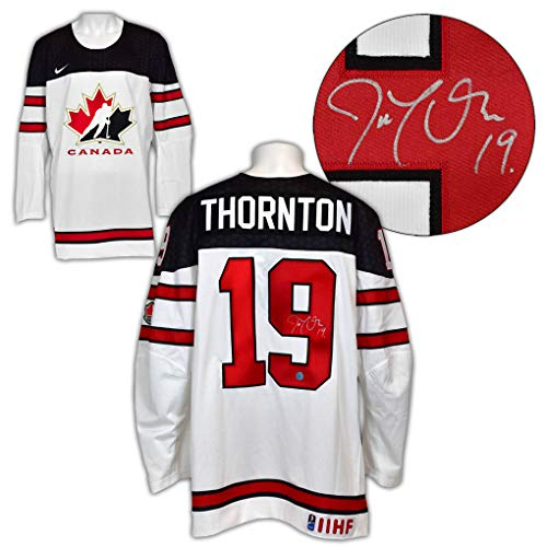 Joe Thornton Team Canada Autographed White Nike Olympic Hockey Jersey
