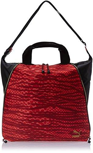 PUMA, Borsa a mano Donna Avenue Shopper, Rosso (Jester Red-Black-Snakeskin Graphic), 35 x 40 x 5 x cm