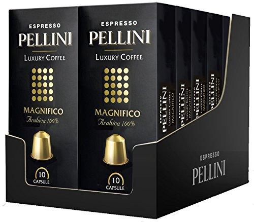 Pellini Caffè, Espresso Pellini Luxury Coffee Magnifico, Compatibili Nespresso, 12 Astucci da 10 Capsule, 120 Capsule