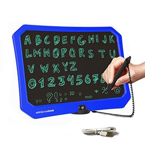 JRD&BS WINL LCD Tablero De Escritura Para Niños,Juguetes De Dibujo Para Niños Niñas 3-15 Años,17 Pulgadas Tablero De Dibujo,Tablero De Mensajes Escritura Repetida,Tablero De Graffiti Para Niños(Azul)