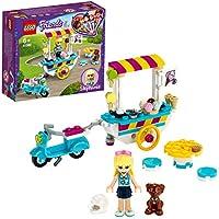 LEGO Friends - Heladería Móvil, Set de Construcción de Carrito para Vender Helados y Dulces, Incluye Muñeca de Stephanie, Dash el Perro y una Moto Scooter Azul (41389)