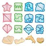 N\A Juego de 12 moldes de galletas para pan tostadas, sándwich y galletas