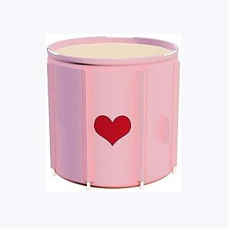 CCDDP Pink Bathtub - Foldable Bathtub, Portable Hot Water Thickened Warm Adult Bathtub Bathroom Bath Tub