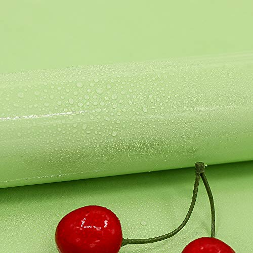 Hode Papel Adhesivo para Muebles Verde 30cm X 3m Impermeable Papel Pintado Vinilos PVC de Cocina Baño Estante Muebles Contador Mesa de Pared