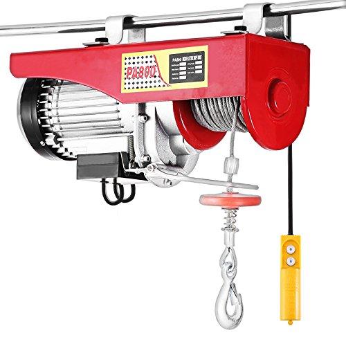 VEVOR Elektrische Seilwinde 800kg Seilhebezug 220V Seilhebezug Elektrisch mit Kabel-Fernbedienung TÜV Rheinland GS Geprüft (800kg)