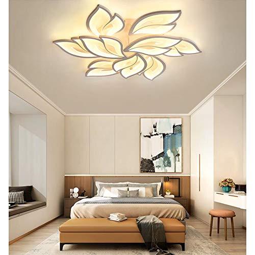 Lámpara de LED decorativa para salón, diseño moderno de flores, regulable con mando a distancia, lámpara de techo de metal acrílico chic, Dormitorio Lámpara colgante, comedor lámpara decorativa (L85)