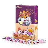 36 piezas 11,5 cm Juguetes para Gatos Pequeño traqueteo Ratones lindo color doble pequeño Ratón Gato Gatito Interactivo, colores variados