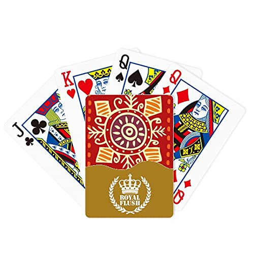 Red Eyes México Tótems Ancient Civilization Royal Flush Poker Juego de cartas