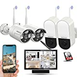 【Expandable 8CH&Audio】 Wireless Home Security Camera Systems Outdoor with 10inch Screen Monitor,Wireless Complete Video Surveillance Camera System with Hard Drive,4pcs Wireless Weatherproof Cameras