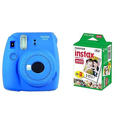 Fujifilm Instax Mini 9 - Cámara instantánea, Cámara con 2x10 películas, Azul Marino