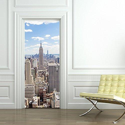 30.3x78,7 City View Wall Mural adhesivo de pared para decoración del hogar, vinilo extraíble en 3D