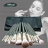 Xnuoyo Makeup Brushes 14pcs Cepillos Cosméticos Profesionales Base en Polvo Correctores de Mezcla de Contorno Sombra de Ojos Juego de Brochas de Maquillaje, con una Hermosa Bolsa de Cosméticos