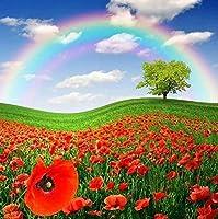 1000個の木製大人のパズル、減圧レ組み立てゲーム、最高のホリデーギフト- 美しい花花虹(50x75cm)