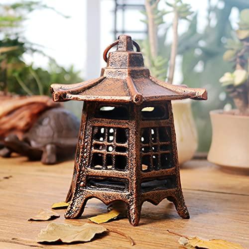 farolillos decorativos farolillos para velas Candelabro de hierro fundido vintage,linterna hexagonal,Pagoda japonesa,candelabro de jardín colgante oriental,candelabro,decoración interior / exterior
