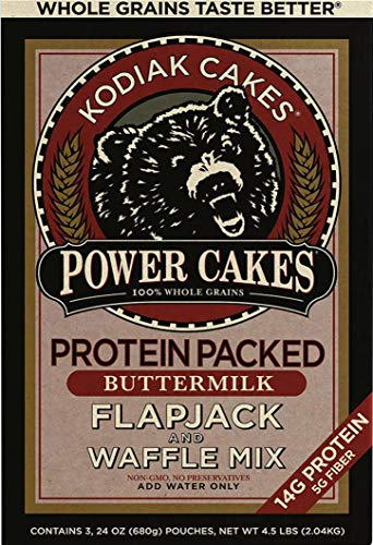 Price comparison product image Kodiak Cakes Power Cakes: Flapjack and Waffle Mix Whole Grain Buttermilk Net Wt. 4.5 lbs (Three 24 Ounce Pouches)