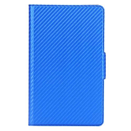 ISIN Premium Carbonfaser Textur Schutzhülle Cover für Huawei Mediapad M6 8 8.4 2019 VRD-AL00 VRD-W09 VRD-AL09 (Nicht für M5 8.4, M3 8.4,M6 10.8) 8,4-Zoll-Android-Tablet-PC(Blau)