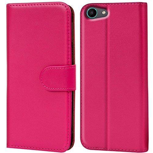 CoolGadget Handyhülle für Wiko Tommy Hülle, Book Hülle Premium PU Leder Flip Cover Schutzhülle für Wiko Tommy Tasche, Pink