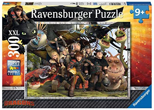 Ravensburger 13198 3 - Dr Dragons Puzzle, 300 Pezzi, Cartone
