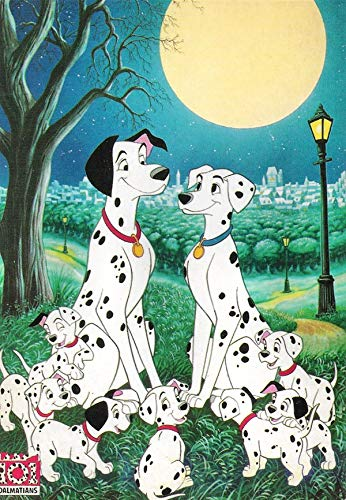 101 Dalmatians Poster 5D DIY Diamond Embroidery, Children/Adult Diamond Cross Stitch kit, Wall Decoration Art Gift.(11.8x15.8inch)