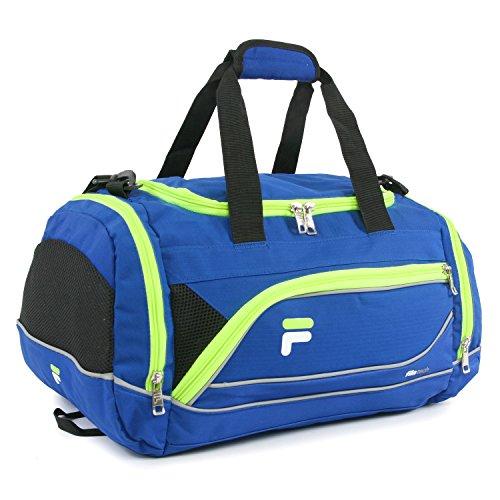 Fila Bolsa esportiva esportiva Sprinter de 48 cm, Bolsa esportiva Sprinter 48 cm, Azul/Neon, One Size