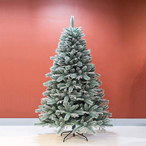 ZLJ Premium Snow Flock Christmas Tree 6ft Artificial Christmas Pine Tree with Foldable Metal Stand Hotel Festive Decoration -d 6ft