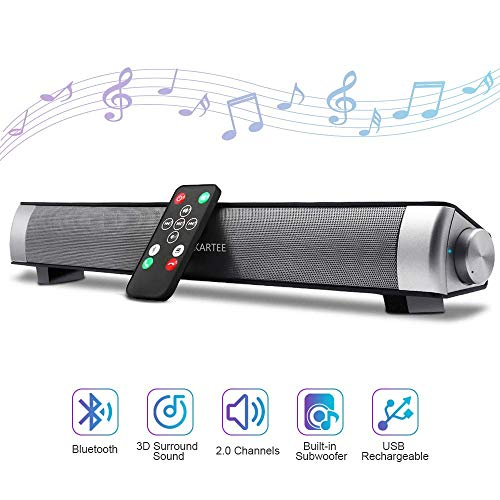 Learn More About Bluetooth Sound Bar 15.7 Inches Portable Wireless Speakers for Home Theater Surroun...