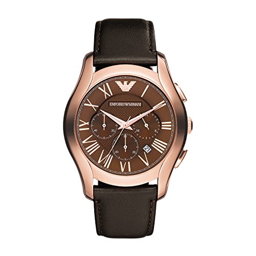 Emporio Armani Herren Chronograph Quarz Uhr mit Leder Armband AR1701