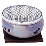 マルヨシ陶器 伊勢炭焼 水コンロ 7号 白 M4605