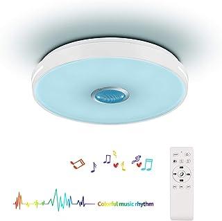 Horevo LEDシーリングライト リモコン付き Bluetoothスピーカー搭載 36W 8畳 4320lm 無段階調光 調色 2700-6500K 常夜灯 明るさメモリ スリープタイマー 子供部屋 居間 寝室 PSE認証済み