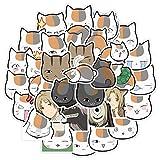 WYZN 40 piezas de dibujos animados anime anime gato avatar personalidad creativa DIY niños scrapbook decoración...