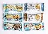 Grondona Biscottificio - Galletas en Paquetes Individuales, 48 Piezas de 25 gramos Cada, Surtidas en 6 Tipos de Porciones Individuales. Embalaje Seguro y Resistente. Producto Tradicional Italiano